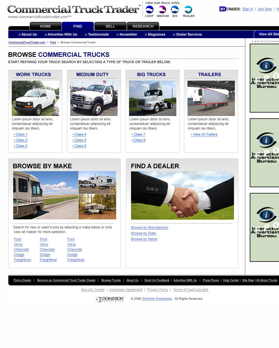 Commercial Truck Trader | Browse Class / Type